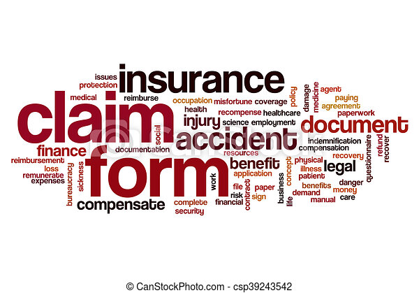 Claim Form Word Cloud Stock Illustration