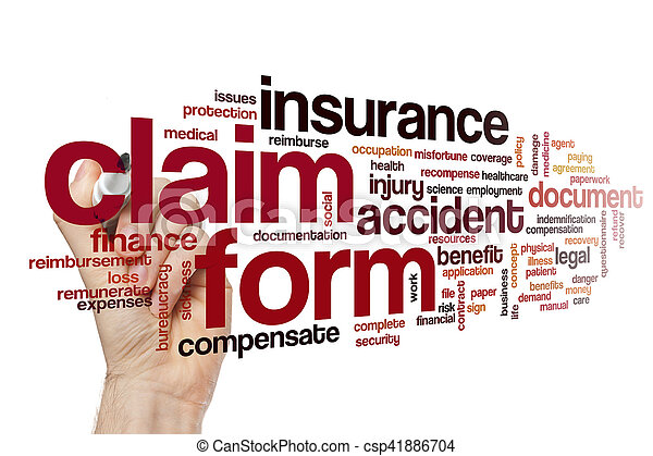 Claim Form Word Cloud Concept Stock Photography  Search Pictures