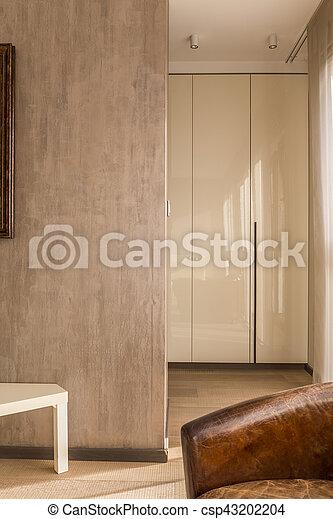 Fauteuil, clair, appartement, couloir photographie de stock ...