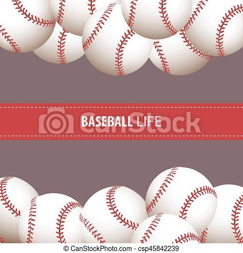 clair, base-ball, fond - csp45842239