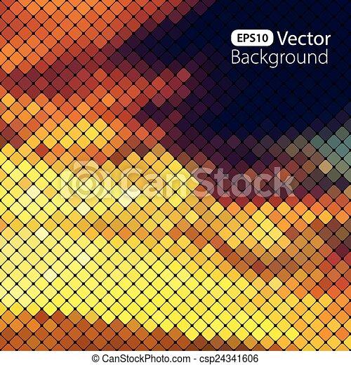 clair, coloré, mosaïque, fond - csp24341606