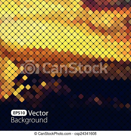 clair, coloré, mosaïque, fond - csp24341608