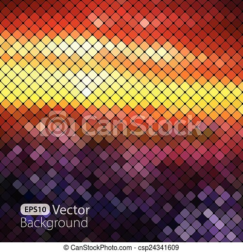 clair, coloré, mosaïque, fond - csp24341609