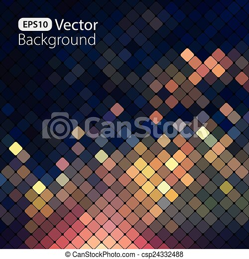 clair, coloré, mosaïque, fond - csp24332488