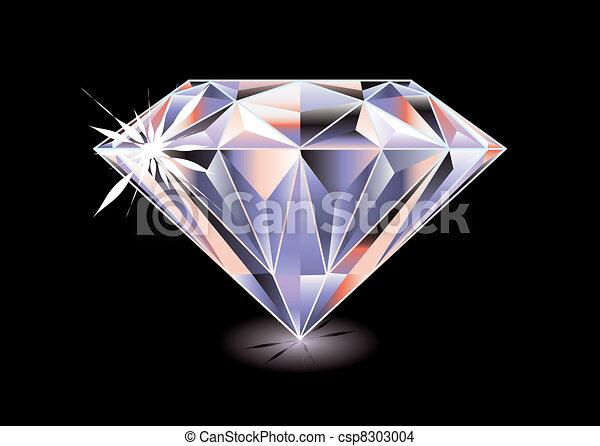 clair, diamant, noir - csp8303004