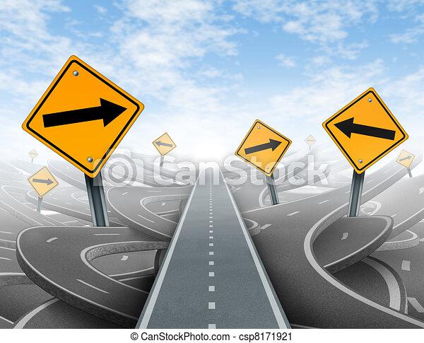 clair, direction, solutions, stratégie - csp8171921