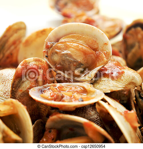 clams in marinara sauce - csp12650954