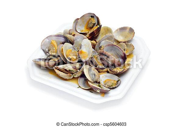 clams in marinara sauce - csp5604603