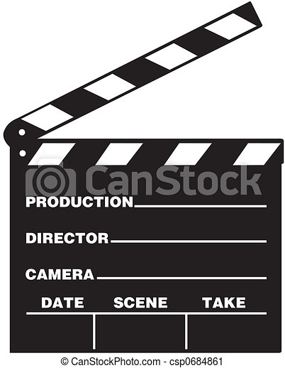 clapboard illustration of film clap board rh canstockphoto com director's clapboard clipart white clapboard clipart