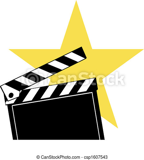 opened movie clapboard used by movie directors with bright rh canstockphoto com movie star clip art free movie star images clip art
