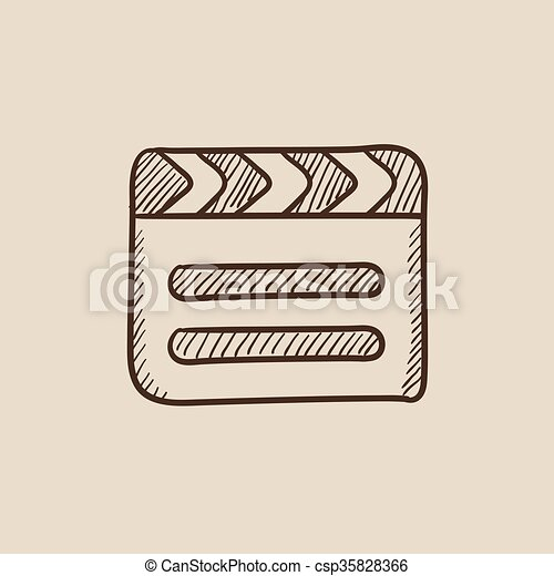 Clapboard sketch icon. - csp35828366