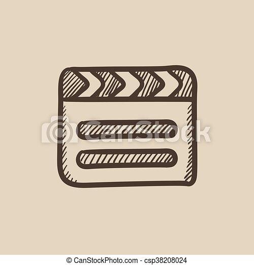 Clapboard sketch icon. - csp38208024