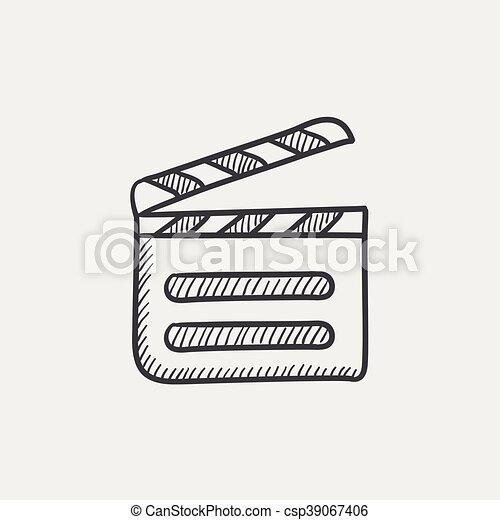 Clapboard sketch icon. - csp39067406
