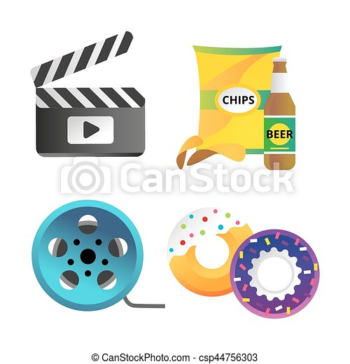 Clapper board and cinema icons vector illustration movie action clapper board and cinema icons vector vector clipartcsp44756303g freerunsca Choice Image