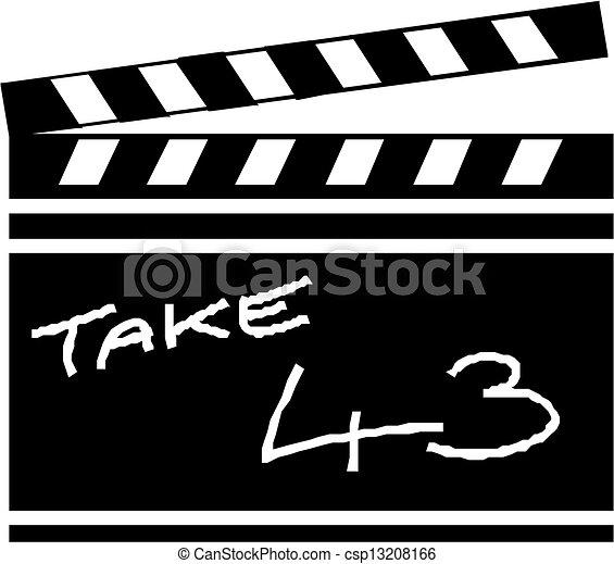 Clapper board - csp13208166