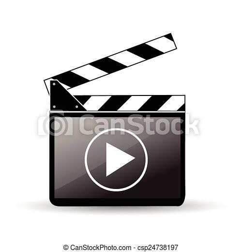 Clapper board - csp24738197