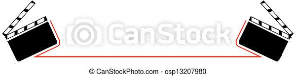 Clapper board  - csp13207980