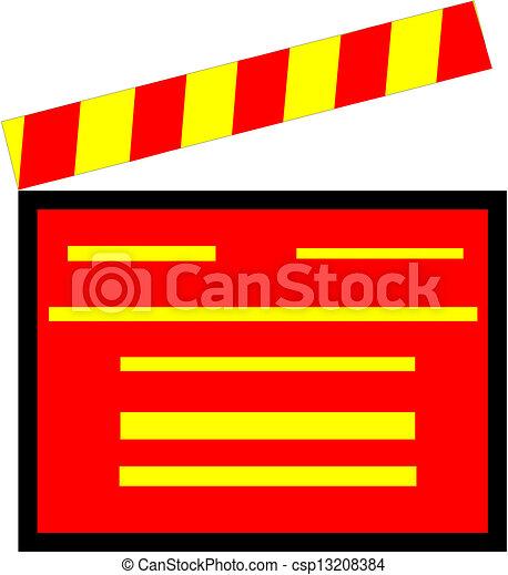 Clapper board - csp13208384