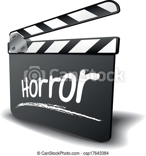 clapper board horror - csp17643384