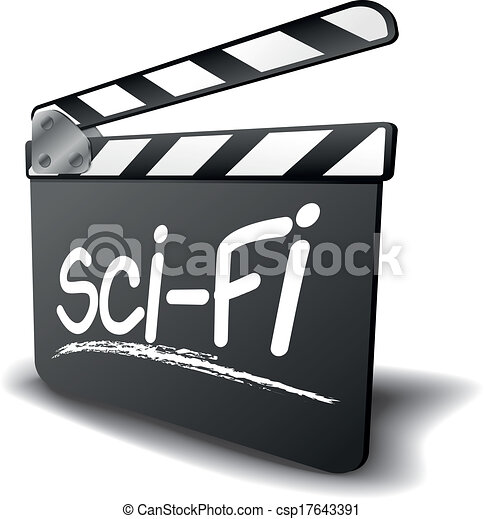 clapper board sci fi detailed illustration of a clapper board with rh canstockphoto com Science Fiction Stock Characters science fiction film clipart