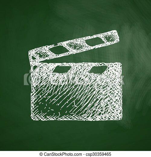 clapper cinema icon - csp30359465