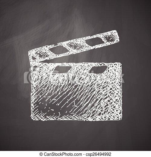 clapper cinema icon - csp26494992