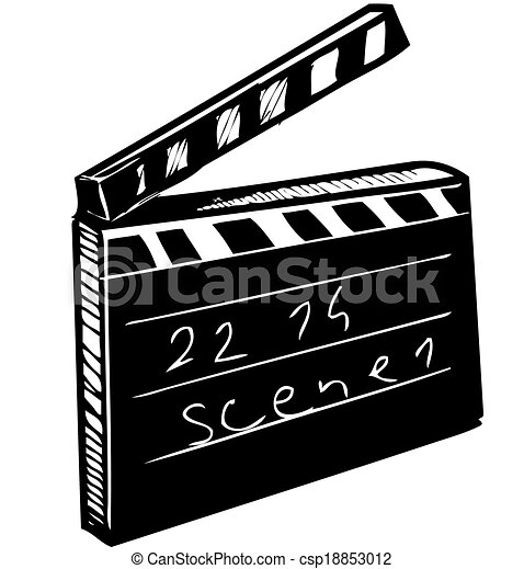 Clapperboard isolated on white - csp18853012
