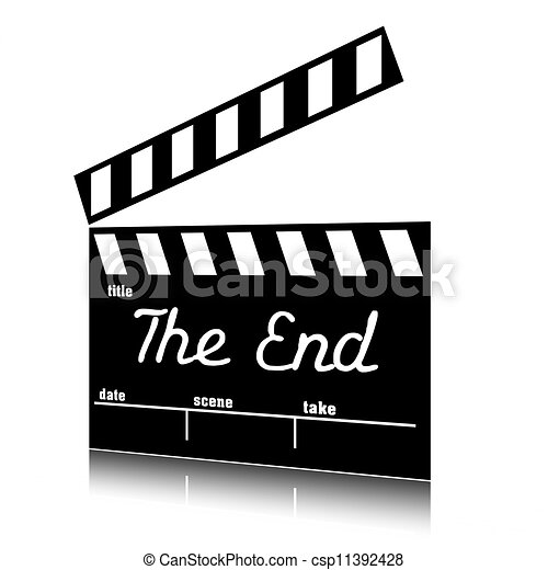 clapperboard the end clip art clap film of cinema the end rh canstockphoto com clip art for the end free clip art the end