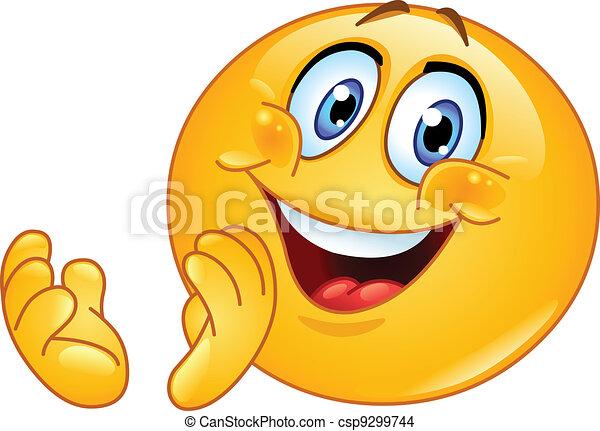 Clapping emoticon - csp9299744