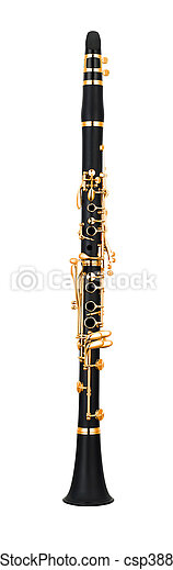 Clarinet isolated on a white background - csp38845679