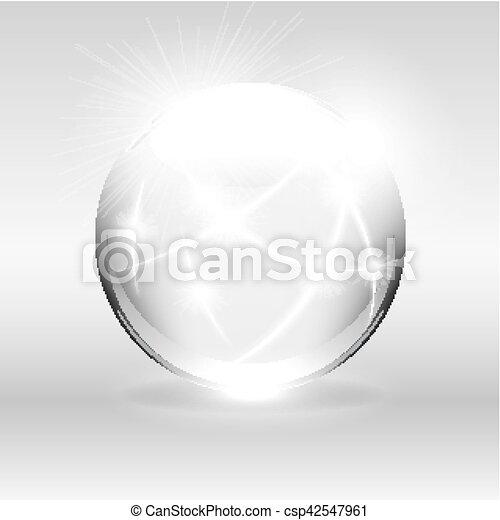 Globo blanco claro - csp42547961