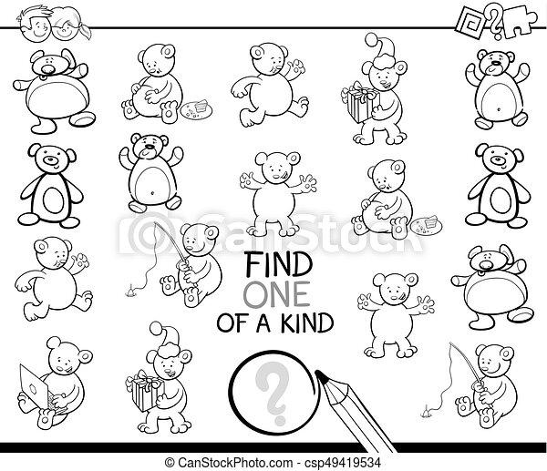 Clase, colorido, osos, uno, libro, hallazgo. Educativo, colorido ...