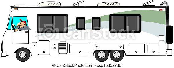 Class A Motorhome Stock Illustration