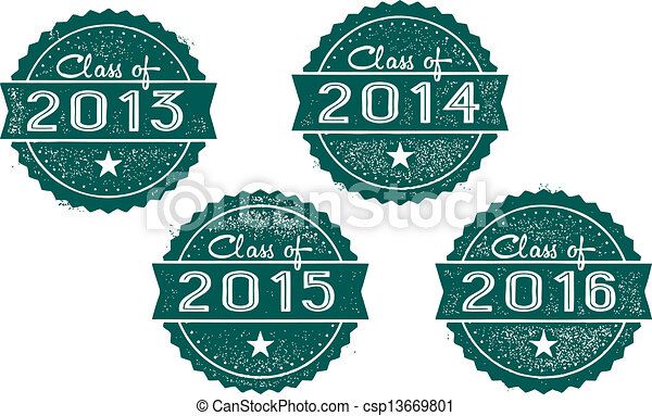 class of 2013 2014 2015 2016 vintage style stamps for school rh canstockphoto com Graduation Class of 2009 2013 Graduation Gifts