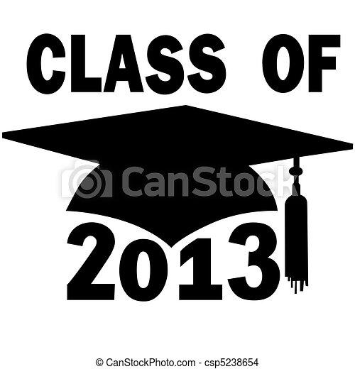 class of 2013 college high school graduation cap a mortar board rh canstockphoto com Graduation Cap Clip Art Preschool Graduation Clip Art