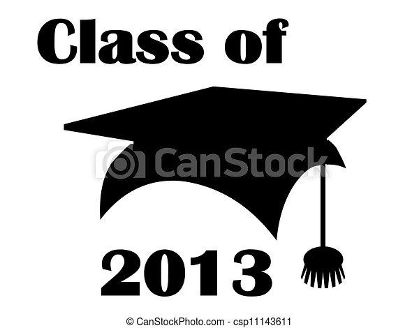 class of 2013 mortarboard class of 2013 mortarboard clipart rh canstockphoto com Cute Graduation Clip Art Graduation Border