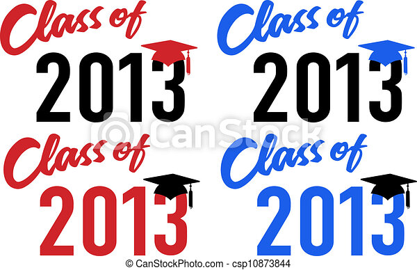Class of 2013 school graduation date cap - csp10873844