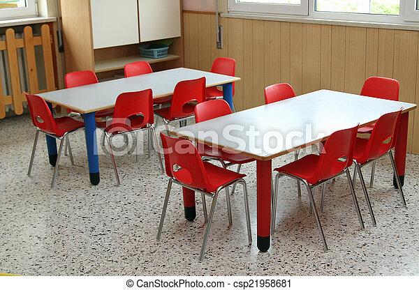 Classe Chaises Petit Table Jardin Enfants
