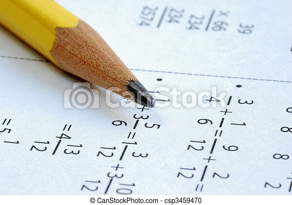 classe, crayon, école, quelques-uns, math - csp3459470