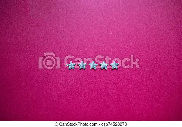 classement, service, réaction, étoiles, cinq, satisfaction, concept, blackboard. - csp74528278