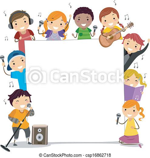 classes, cantando, crianças - csp16862718