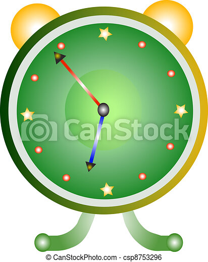 Classic alarm clock over white back - csp8753296