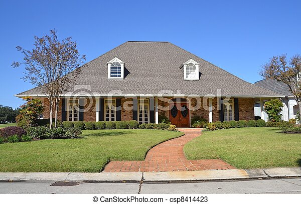 Classic Amercian Home 1 - csp8414423