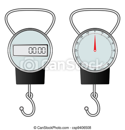 classic and digital hook scale - csp9406508