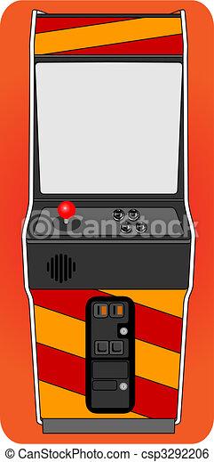 Classic arcade cabinet - csp3292206