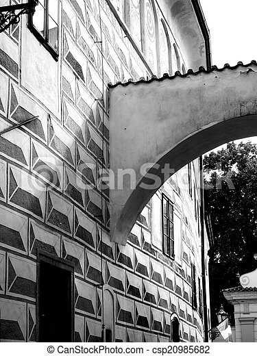 classic architect arch in black and white - csp20985682