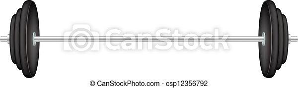Classic barbell - csp12356792