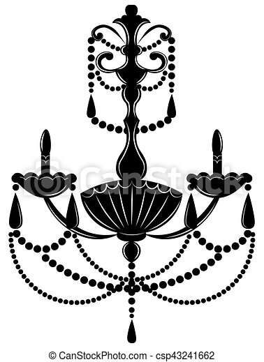 Classic baroque chandelier on white background luxury decor clip classic baroque chandelier csp43241662 aloadofball Images