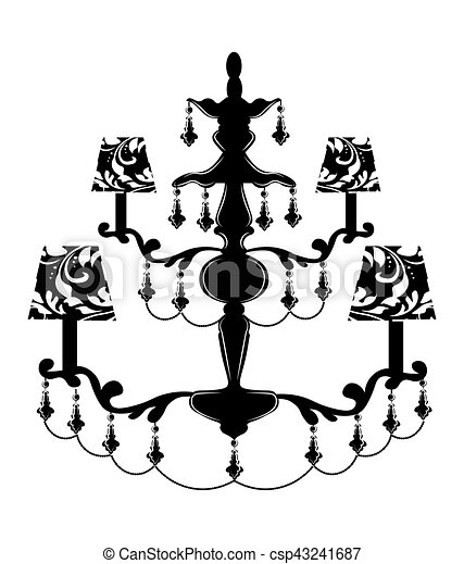 Classic baroque chandelier on white background luxury decor classic baroque chandelier csp43241687 aloadofball Images