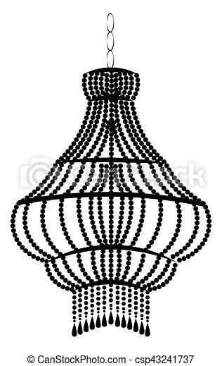 Classic baroque chandelier on white background luxury decor classic baroque chandelier csp43241737 aloadofball Images